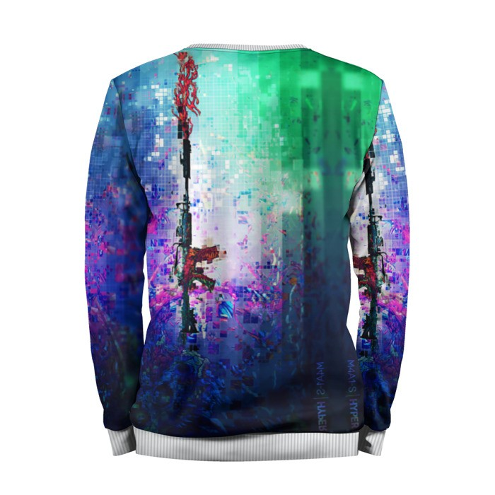 Merch Sweatshirt Cs Go Counter Strike M4A1 Pixels