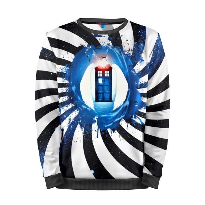 Buy Mens Sweatshirt 3D: Tardis Doctor Who Phone Call Box Merchandise collectibles