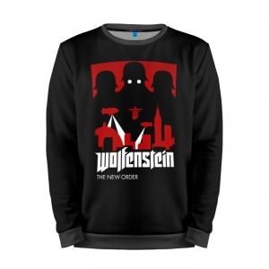 Buy Mens Sweatshirt 3D: Wolfenstein Gear Logo art merchandise collectibles