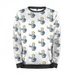Merch Sweatshirt Fallout Vault Boy Pattern Game Sweater