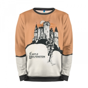 Buy Mens Sweatshirt 3D: Wolfenstein Castle ARt merchandise collectibles