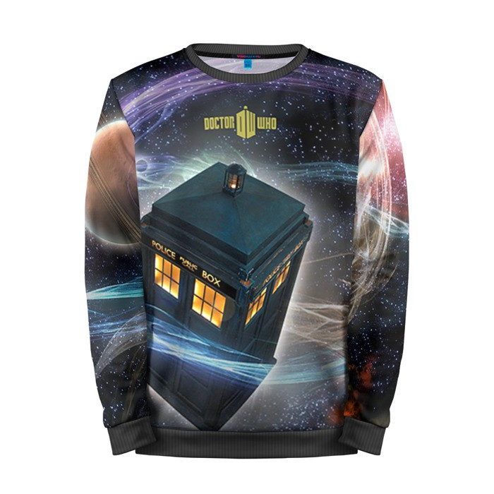 Buy Mens Sweatshirt 3D: Tardis Doctor Who Art Call Box Apparel Merchandise collectibles
