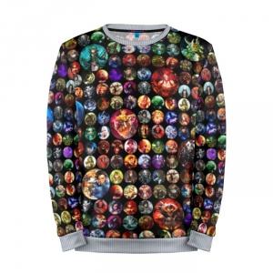 Buy Mens Sweatshirt 3D: Dota Collage heroes Dota 2 jacket merchandise collectibles