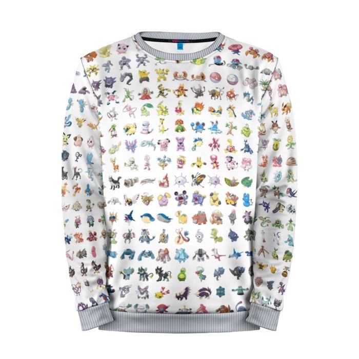 Buy Mens Sweatshirt 3D: Wall Pokemon Go merchandise collectibles
