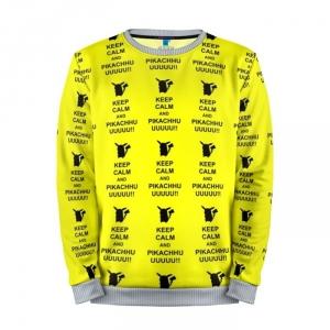 Buy Mens Sweatshirt 3D: Pikachu keep calm Pokemon Go merchandise collectibles