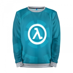 Buy Mens Sweatshirt 3D: Half Life Blue Logo merchandise collectibles