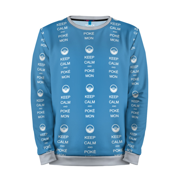 Buy Mens Sweatshirt 3D: keep calm Pokemon Go merchandise collectibles