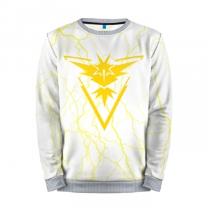 Buy Mens Sweatshirt 3D: Team Instinct Simple White Pokemon Go merchandise collectibles