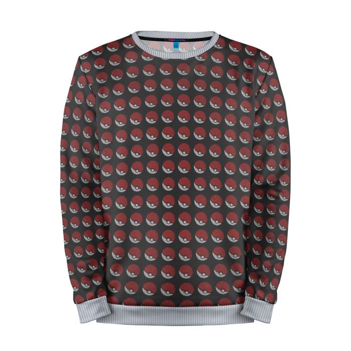 Buy Mens Sweatshirt 3D: Pokeball Red pattern Pokemon Go merchandise collectibles