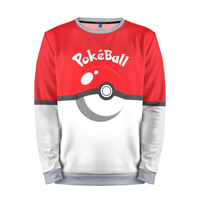 Buy Mens Sweatshirt 3D: Pokeball Pokemon Go Red merchandise collectibles
