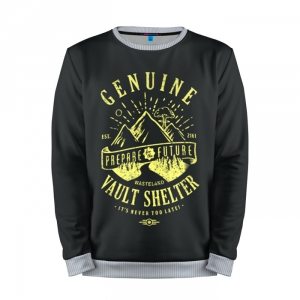 Buy Mens Sweatshirt 3D: Vault Shelter Fallout merchandise collectibles