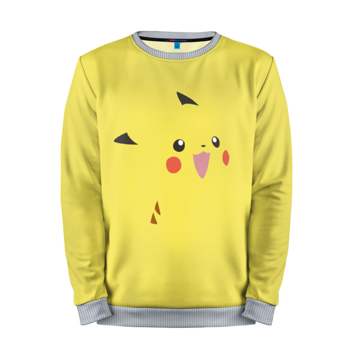 Buy Mens Sweatshirt 3D: Pikachu Pokemon Go Yellow merchandise collectibles