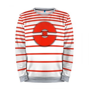 Buy Mens Sweatshirt 3D: Pokeball Red Pokemon Go