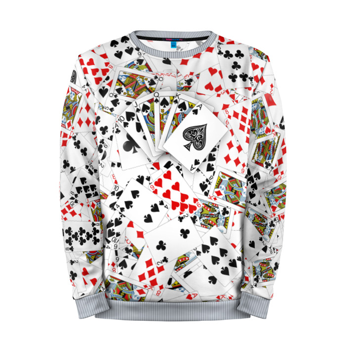 Buy Mens Sweatshirt 3D: Royal Flush Poker merchandise collectibles