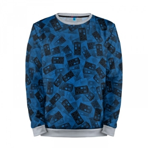 Buy Mens Sweatshirt 3D: Doctor Who Tardis Pattern Call Box Merchandise collectibles