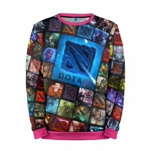 Buy Mens Sweatshirt 3D: Logos Collage Dota 2 jacket merchandise collectibles