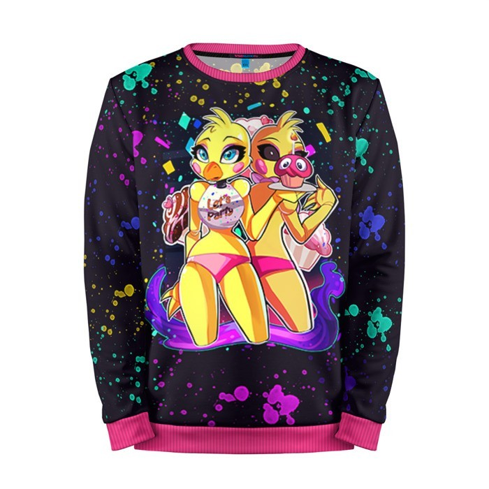 Buy Mens Sweatshirt 3D: Chica Five Nights At Freddy's Apparel merchandise collectibles