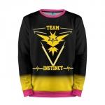 Merchandise Team Instinct Sweatshirt Pokemon Yello Black