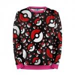 Merch Sweatshirt Pokeballs Pattern Pokemon Go