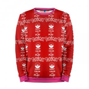 Buy Mens Sweatshirt 3D: Red Pattern Pokemon Go merchandise collectibles