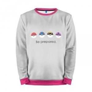 Buy Mens Sweatshirt 3D: Be Prepared Pokemon Go merchandise collectibles
