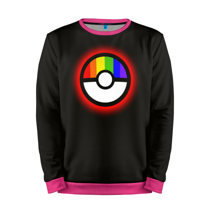 Buy Mens Sweatshirt 3D: Pokeball Rainbow Pokemon Go merchandise collectibles