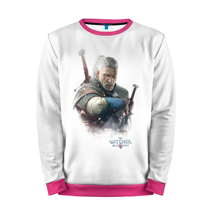 Buy Mens Sweatshirt 3D: The Witcher Pink White Merchandise collectibles