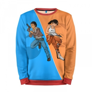 Buy Mens Sweatshirt 3D: Half Portal Half Life Game art merchandise collectibles