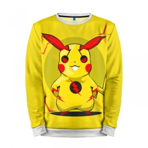 Buy Mens Sweatshirt 3D: Reverse flash Pikachu Pokemon merchandise collectibles