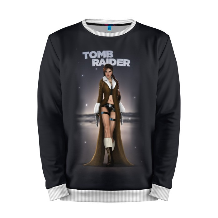 Buy Mens Sweatshirt 3D: Tomb raider Lara Croft Jumper merchandise collectibles