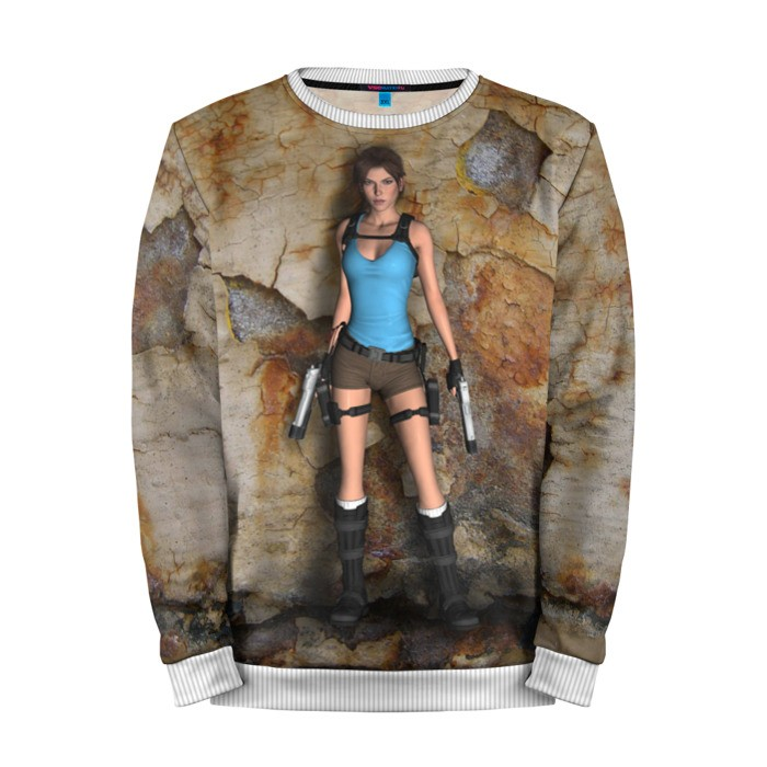 Buy Mens Sweatshirt 3D: Tomb raider Lara Croft Canonical Merchandise collectibles