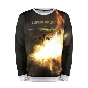 Buy Mens Sweatshirt 3D: AWP DRAGON LORE Counter Strike merchandise collectibles