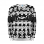 Merchandise Sweatshirt Fallout Black And White Game Sweater