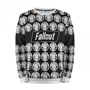 Buy Mens Sweatshirt 3D: Fallout Black and White Inspired merchandise collectibles