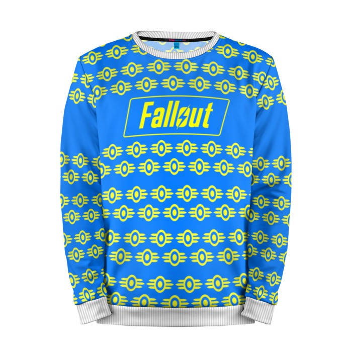 Buy Mens Sweatshirt 3D: Fallout Yellow Blue Sweater merchandise collectibles