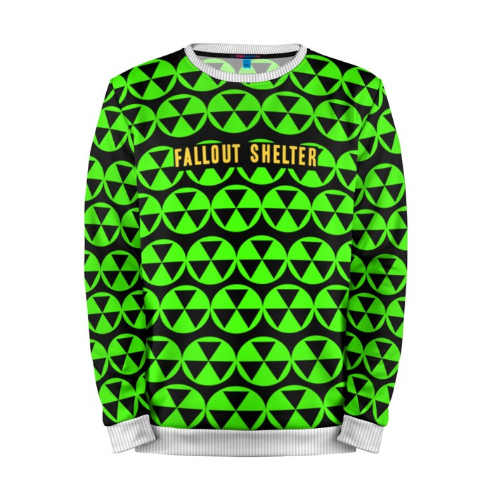 Buy Mens Sweatshirt 3D: Fallout shelter Radiation Warning merchandise collectibles