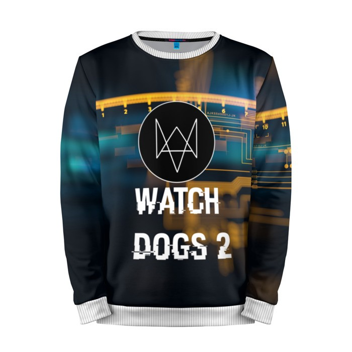 Buy Mens Sweatshirt 3D: Watch Dogs 2 Logo merchandise collectibles