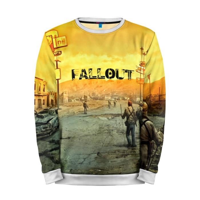 Buy Mens Sweatshirt 3D: Fallout Yellow Jumper Sweater merchandise collectibles