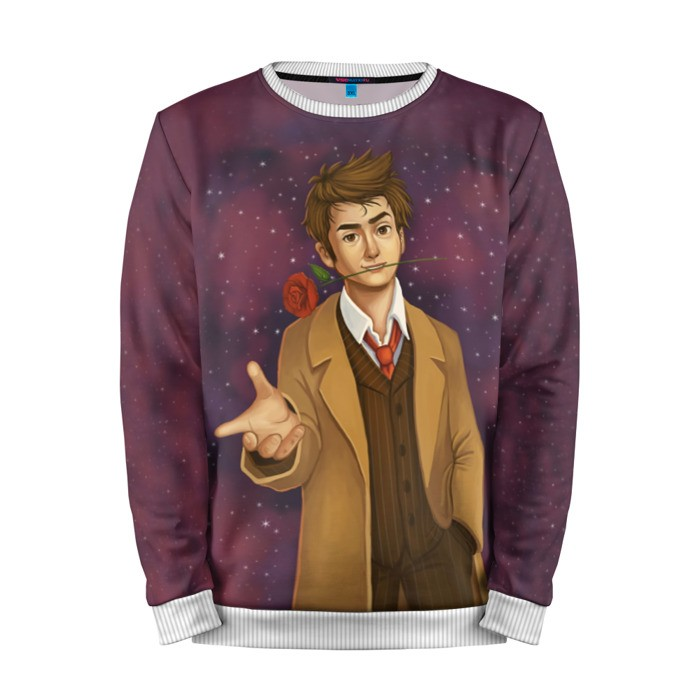 Buy Mens Sweatshirt 3D: 10th Doctor Who David Tennant Merchandise collectibles