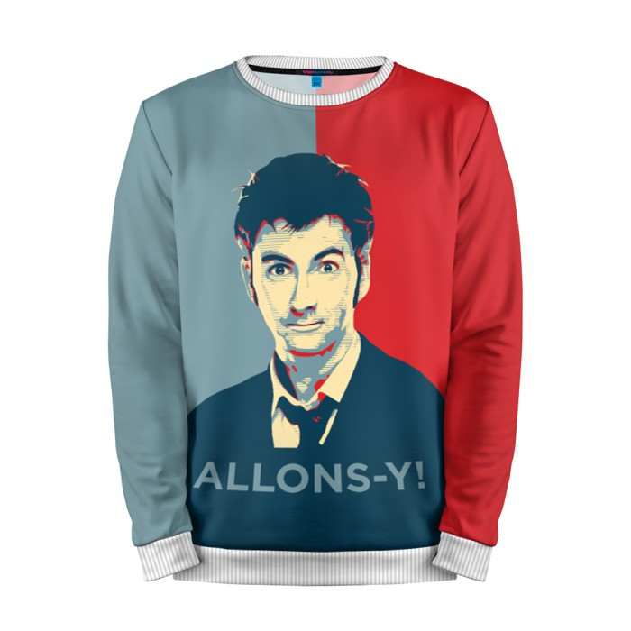 Buy Mens Sweatshirt 3D: ALLONS Y! Doctor Who David Tennant Merchandise collectibles