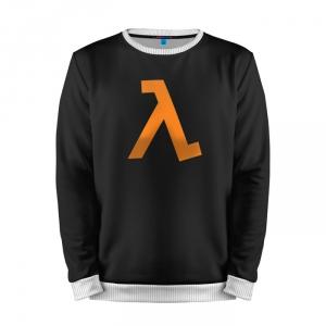 Buy Mens Sweatshirt 3D: Half Life Logotype Emblem merchandise collectibles