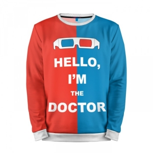 Buy Mens Sweatshirt 3D: Doctor Who Hello I'm the Doctor Merchandise collectibles