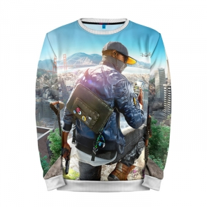 Buy Mens Sweatshirt 3D: Watch Dogs 2 Main Character merchandise collectibles
