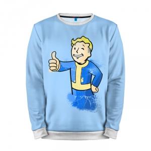 Buy Mens Sweatshirt 3D: Fallout Vault Boy Blue Yellow merchandise collectibles