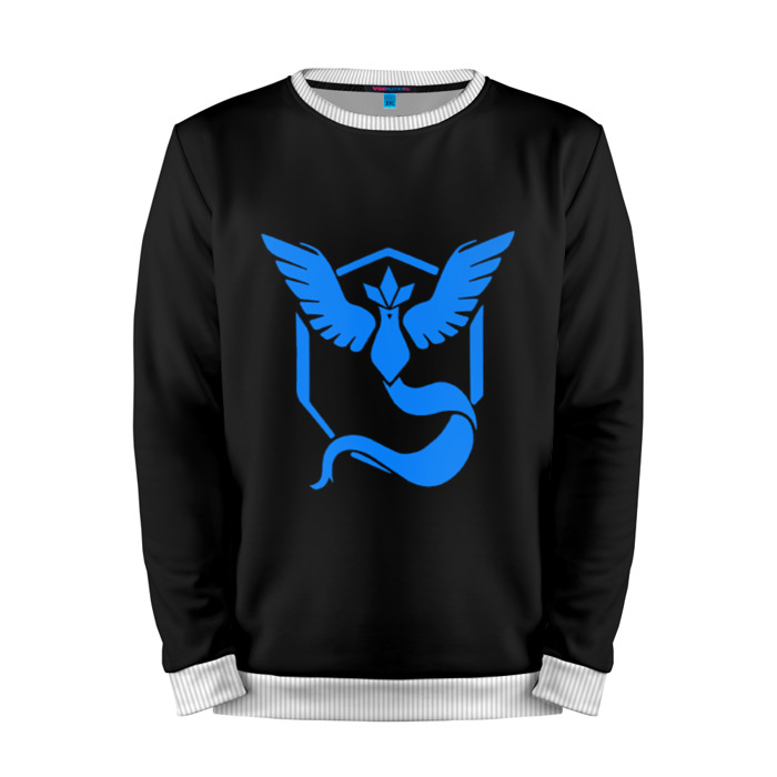 Buy Mens Sweatshirt 3D: Pokemon Blue Team Pokemon Go merchandise collectibles