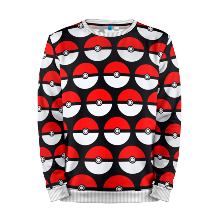 Buy Mens Sweatshirt 3D: Pokeball pattern Pokemon Go merchandise collectibles