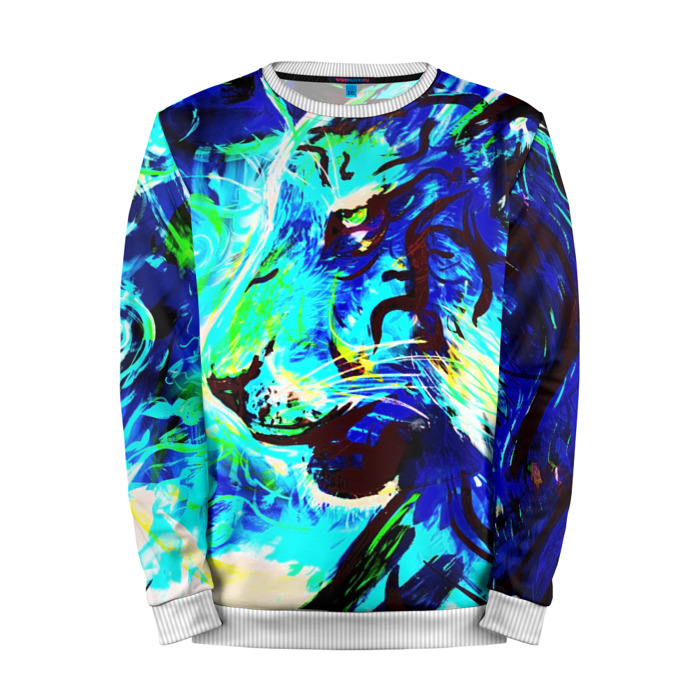 Buy Mens Sweatshirt 3D: Blue tiger Counter Strike Sweater merchandise collectibles