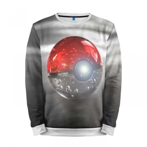 Buy Mens Sweatshirt 3D: Red and White Pokemon Go merchandise collectibles