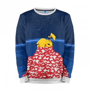 Buy Mens Sweatshirt 3D: Pokemon Go Pikachu Pokeballs Merchandise collectibles