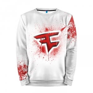 Buy Mens Sweatshirt 3D: cs:go FaZe clan White collection Counter Strike merchandise collectibles